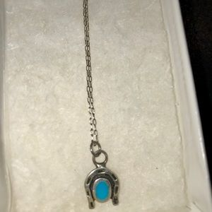 Jewelry - Silver and Turquoise Horseshoe Necklace